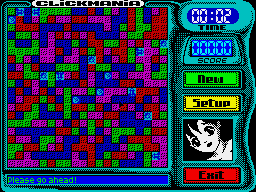 Clickmania! Game Screen